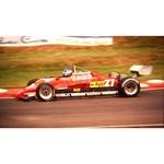 July 1982 F1, Patrick Tambay, Ferrari Original 35mm Slide, Card Mounted