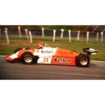 July 1982 F1, Bruno Giacomelli, Alfa Romeo Original 35mm Slide, Card Mounted