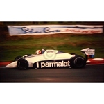 July 1982 F1, Nelson Piquet, Brabham-BMW Original 35mm Slide, Card Mounted
