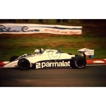 July 1982 F1, Ricardo Patrese, Brabham/BMW Original 35mm Slide, Card Mounted