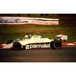 July 1982 F1, Ricardo Patrese, Brabham/BMW Original 35mm Slide, Card Mounted