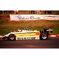 July 1982 F1, Alain Prost, Renault Original 35mm Slide, Card Mounted