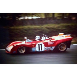 Mario Andretti Ferrari 312PB Original 35mm Photo Slide, BOAC 1000km, April 1972