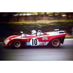 Tim Schenken Ferrari 312PB Original 35mm Photo Slide, BOAC 1000km, April 1972