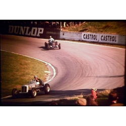 Vintage Racing Cars (2) 35mm Photo Slide, JCB Historic Cars Championship June 1973
