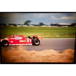 Gilles Villeneuve Ferrari Original 35mm Photo Slide 1981 F1 British Grand Prix