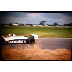 Nelson Piquet Brabham-Ford Original 35mm Photo Slide 1981 F1 British Grand Prix