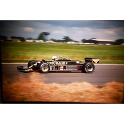 Elio de Angelis Lotus-Ford Original 35mm Photo Slide 1981 F1 British Grand Prix