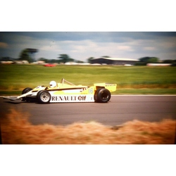 Rene Arnoux Renault Original 35mm Photo Slide 1981 F1 British Grand Prix