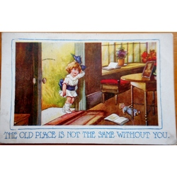 "Tiny Tickles ""Old place is not the same"" 1919 Postcard"