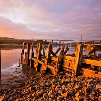 Sunset at Briton Ferry, Neath