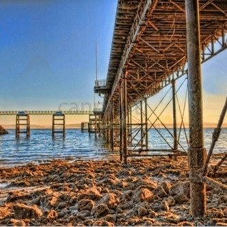 Beneath Mumbles Pier