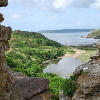 Three Cliffs Bay From Pennard Castle