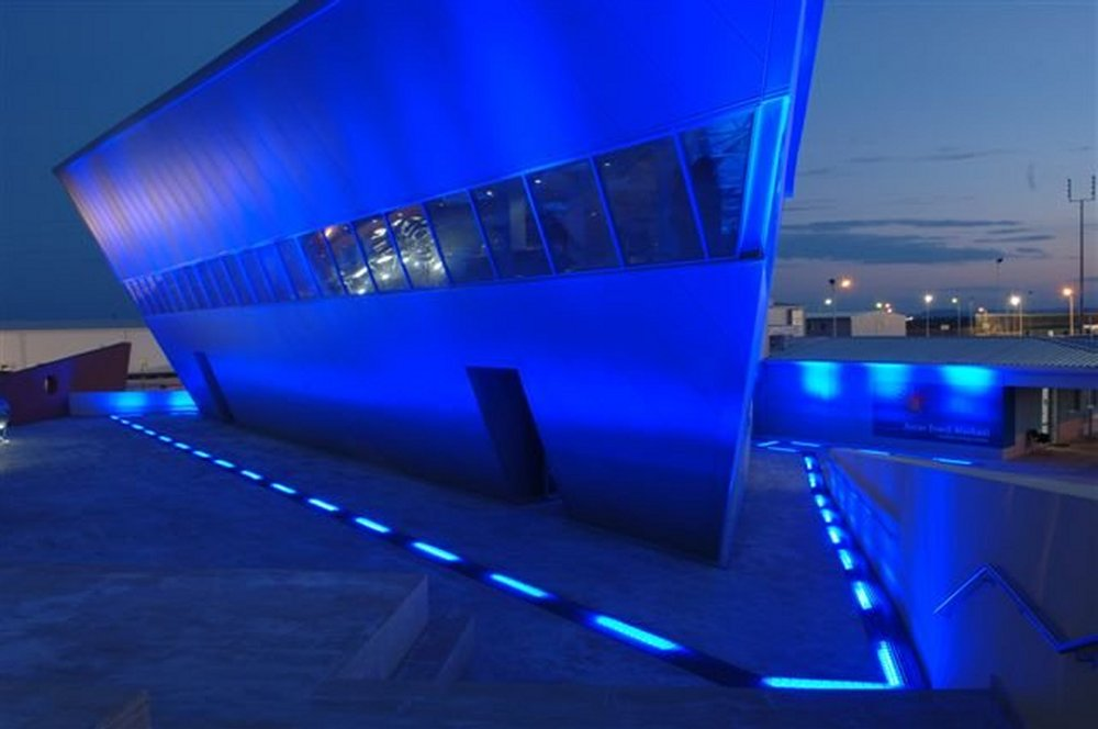 BP welcome centre Azerbaijan - LED flood Light & Bespoke Lighting design u0026 manufacture