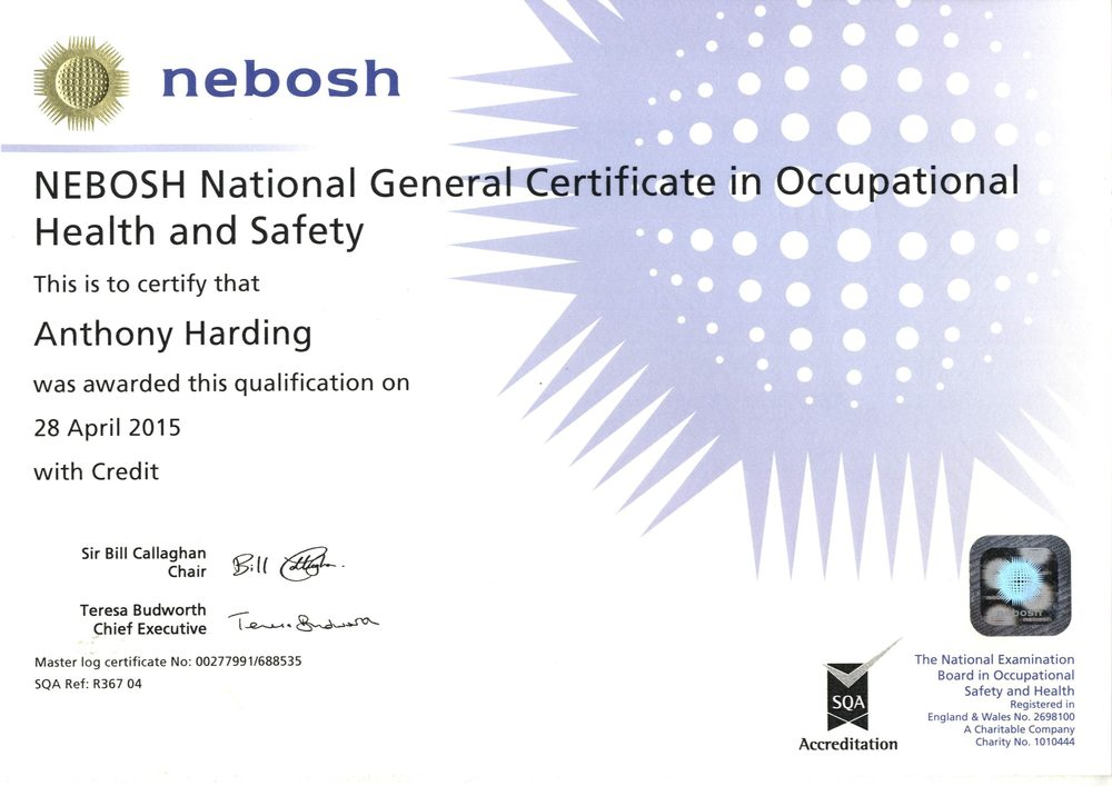 nebosh igc 3 sample report