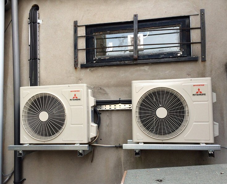 R22 Swap Out Of Old Air Conditioning Systems Using R22 Refrigerant. Three  Very Old Single Split A/c Systems Were Replaced With Super Efficient  Mitsubishi ...