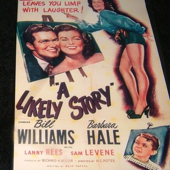 A LIKELY STORY 1947 DVD
