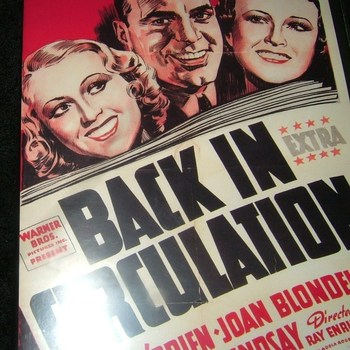 back in circulation 1937 dvd