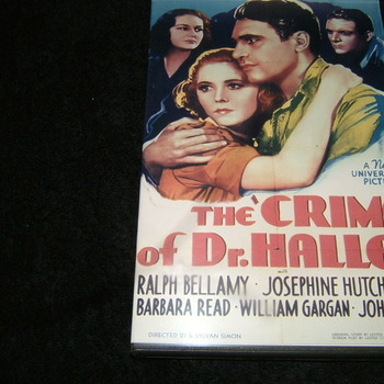 crime of dr hallet 1938 dvd