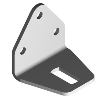 SA490 90° 3 Hole 1 Slot Bracket