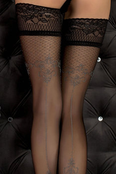 Ballerina 351 Hold Ups Nero Black/Smoke