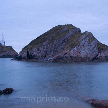 Sunrise at Mumbles Lighthouse Island, Swansea