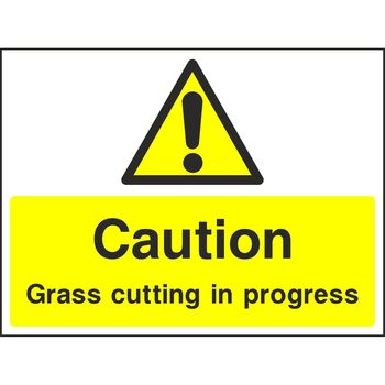 Caution Grass cutting in progress
