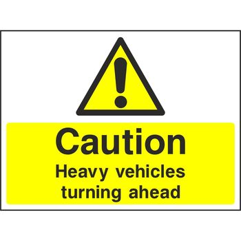 Caution Heavy vehicles
