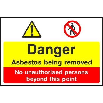 Danger Asbestos being removed