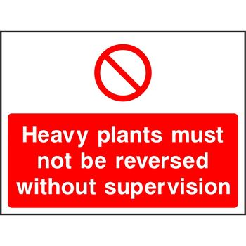 Heavy plants must not be reversed
