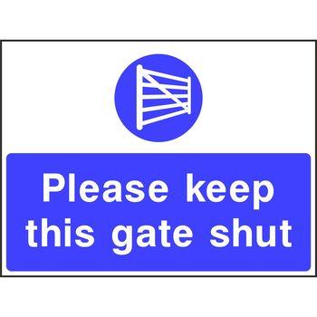 Please keep this gate shut