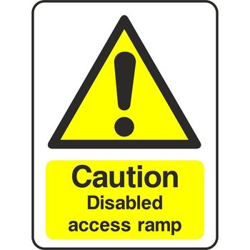 Caution Disabled access ramp