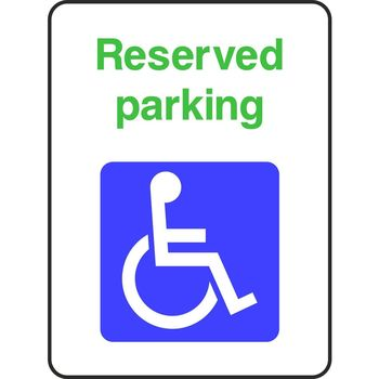Reserved parking for Disabled