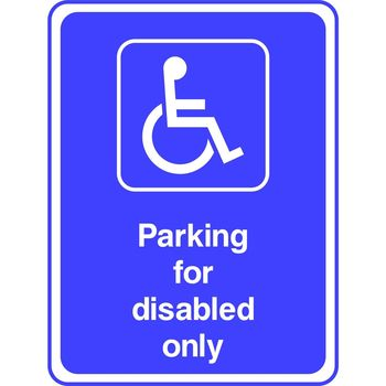 Parking for disabled only