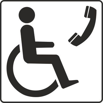 Disabled telephone symbol