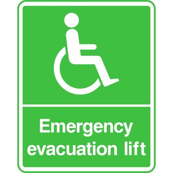 Disabled Emergency evacuation lift