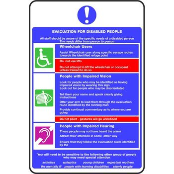 EVACUATION FOR DISABLED PEOPLE