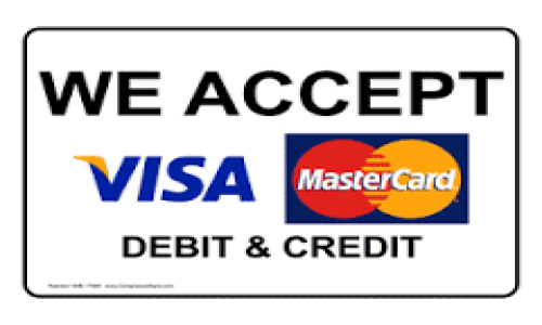 Abbotts of Dudley accept visa and mastercard