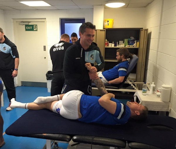 Tim Working with Bristol Rovers