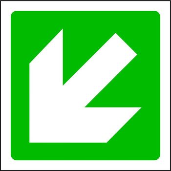 Arrow down and to the left
