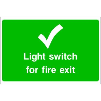 Light switch for fire exit