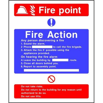 Fire Action Notice with Fire point