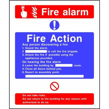 Fire Action Notice with Fire Alarm