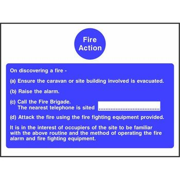 Caravan Site Fire Action Notice