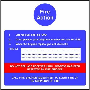 Site Fire Action Notice