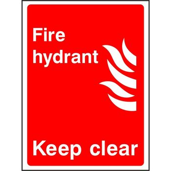 Fire hydrant Keep clear