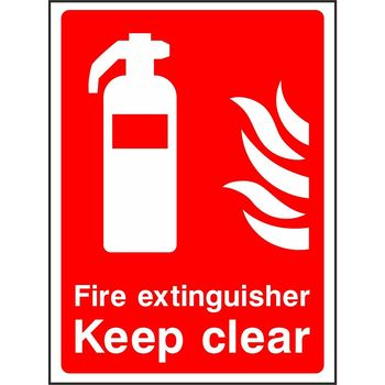 Fire extinguisher Keep clear