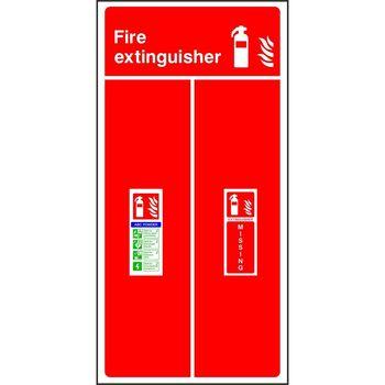Fire extinguisher location board - ABC Powder