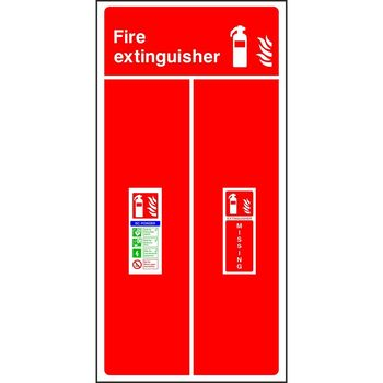 Fire extinguisher location board - BC Powder