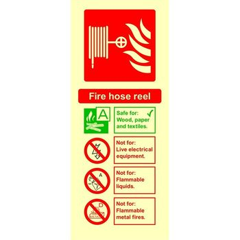 Fire extinguisher identification - FIRE HOSE REEL Photoluminescent